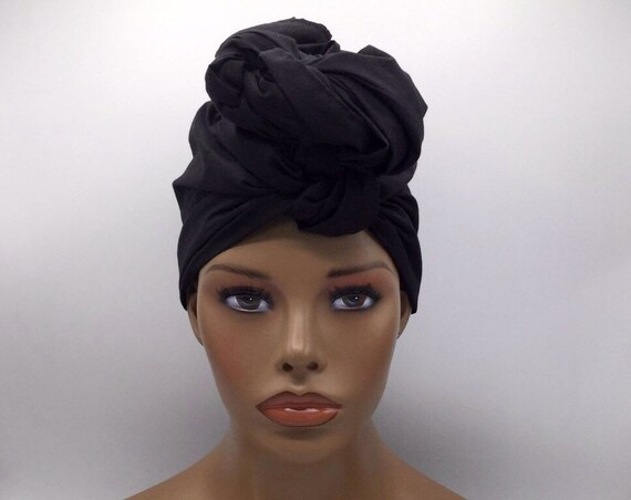 Black Turban Head Wrap