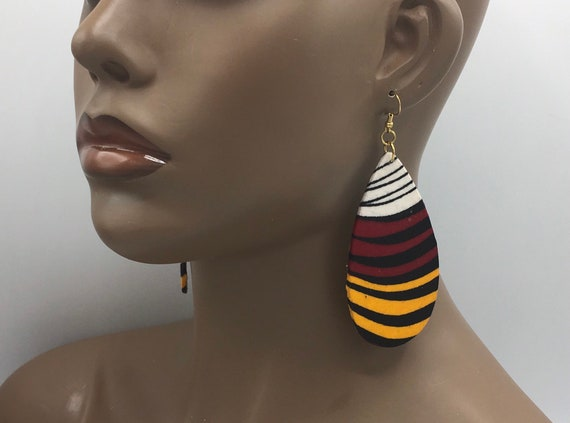 African Earrings, Ankara Earrings, Fabric Earrings, Ankara, African Cloth, Cloth Earrings, Big Ankara Earrings, Large Earrings
