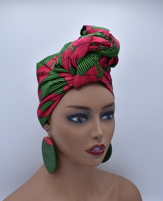 African Head Wrap - African Scarf - African Turban - African Wrap - Ankara  - Cloth Turban - Head Tie - African Headdress