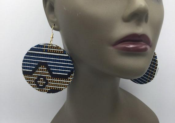 African Earrings - Ankara Earrings - Wax  Earrings - African Jewelry - Ankara  - Big African Earrings - Large Earrings - Round Earrings