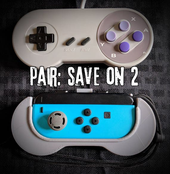 PAIR of SNES-Style Joy-Con Controller Grips for the Nintendo Switch -  Solution to the Itty Bitty Controler - Joycon