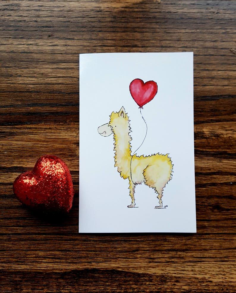 Llama Valentine/Galentines/Kids Valentine/Llama Llove image 0