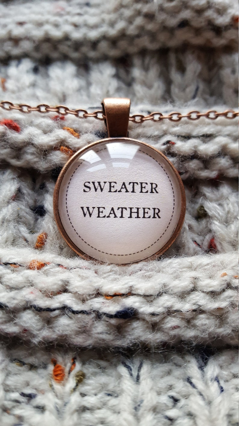 Sweater Weather/Fall Necklace/Autumn Jewelry/Fall image 0