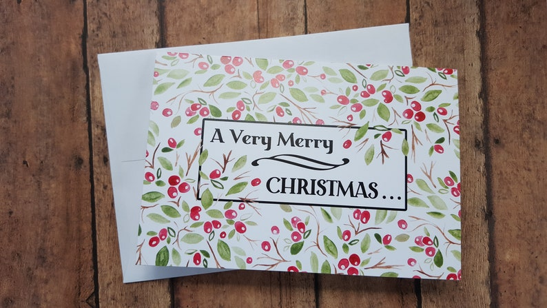 Country Christmas Card/Old Fashion/Red and Green Christmas image 0
