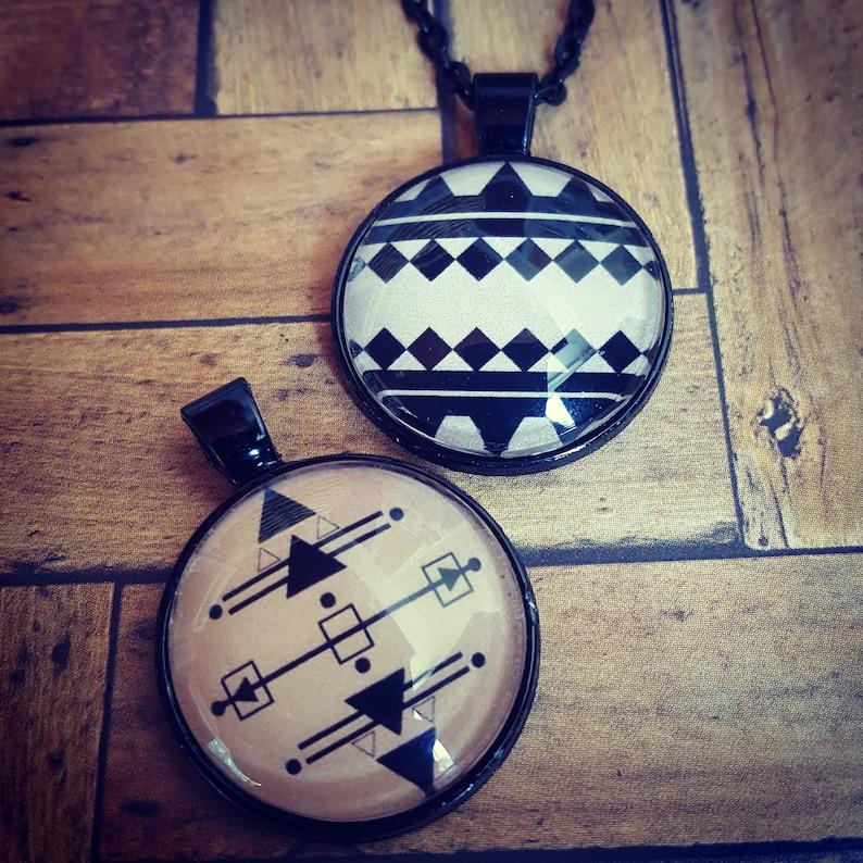 Geometric Pattern Necklace/Geometric Fashion/Tribal image 0