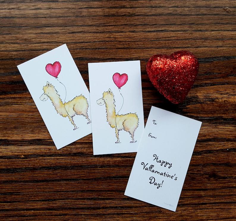 Classroom Valentine/Kids Valentines/Llama Llove Valentine image 0