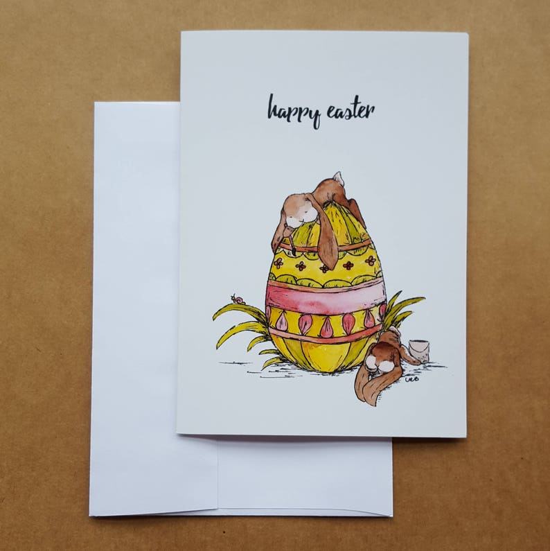 Happy Easter Card/5 Pack Blank Cards/Easter image 0