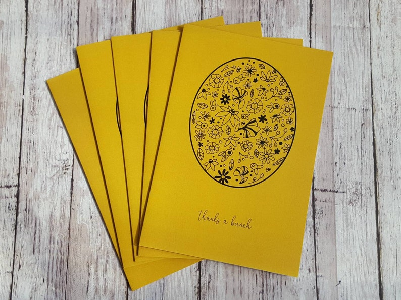 Thank You Card/Yellow and Black /Thanks a Bunch Blank image 0