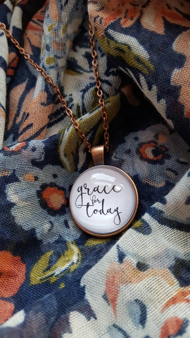 Grace Necklace/Grace For Today/Christian Jewelry/Old image 0