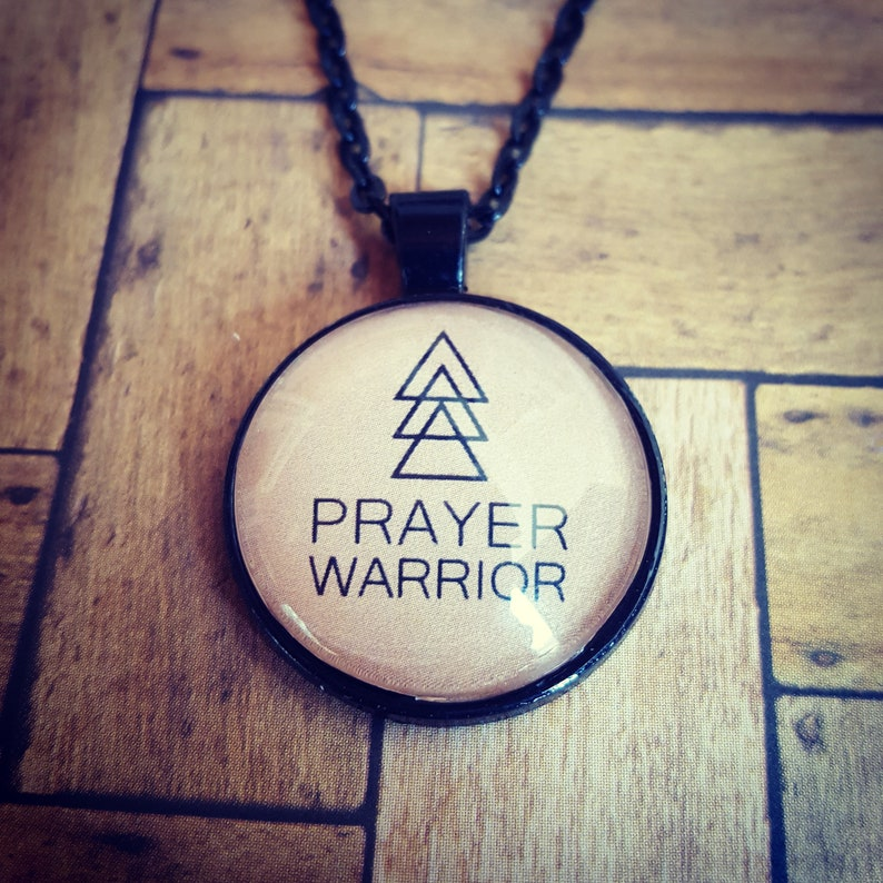 Prayer Warrior Pendant Necklace/Christian Jewelry/Christian image 0