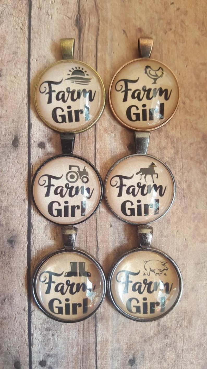 Farm Girl Pendant Necklace/Farmer's image 0