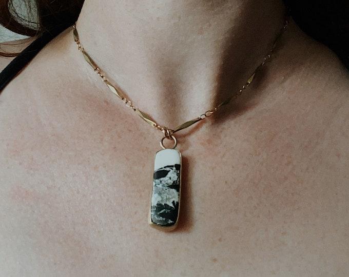 White Buffalo Pendant Necklace