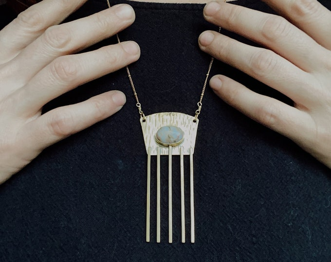Ocean Jasper Modern Comb Necklace