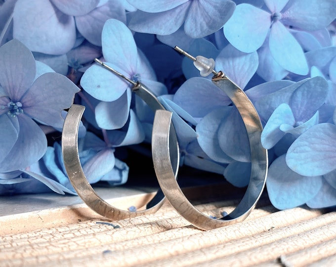 Made To Order | Triangle Hoop Earrings