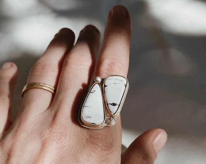 CHOOSE YOUR SIZE | White Buffalo Turquoise Ring