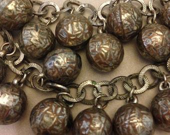 Vintage Metal Balls Necklace