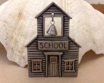 Vintage Pewter Schoolhouse Pin