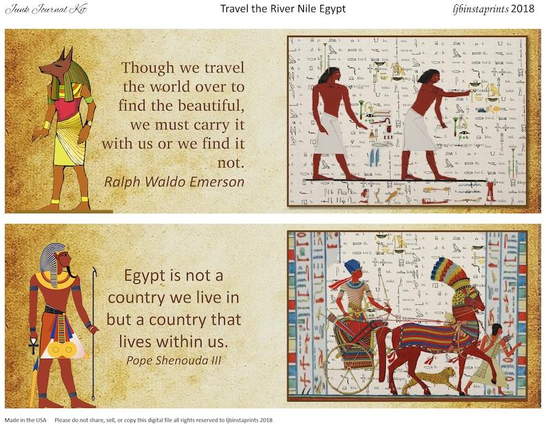 Egypt Junk Journal Kit, Travel Junk Journal Kit, Junk Journal Kit, Junk  Journal Supply, Instant Download