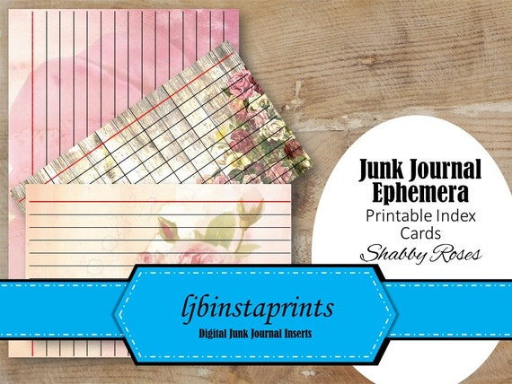 photograph regarding Printable Index Cards known as Shabby Red Roses Index Magazine Playing cards, Junk Magazine Printable Factors, Index Playing cards Magazine Destinations, Fast Down load