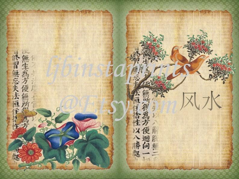 Digital Journal Kit Chinese Paintings Junk Journal Kit Orient Journal Kit Instant Download Asian Travel Junk Journal Kit