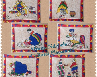 African Ndebele Print Placemats
