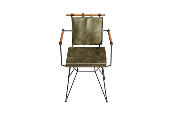 Izmit Metal Dining Room Chair with Cushion