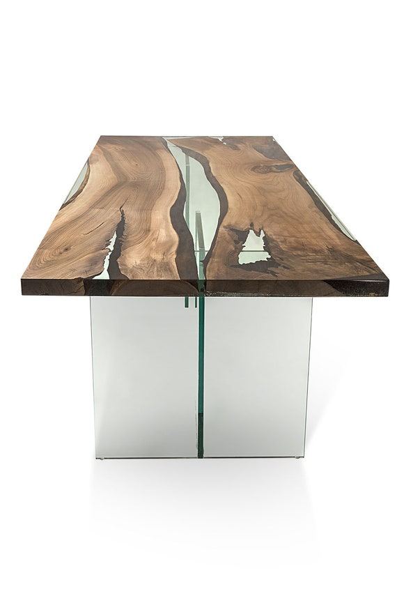 Hudson 250 Epoxy Resin Dining Table With Acrylic Base Etsy