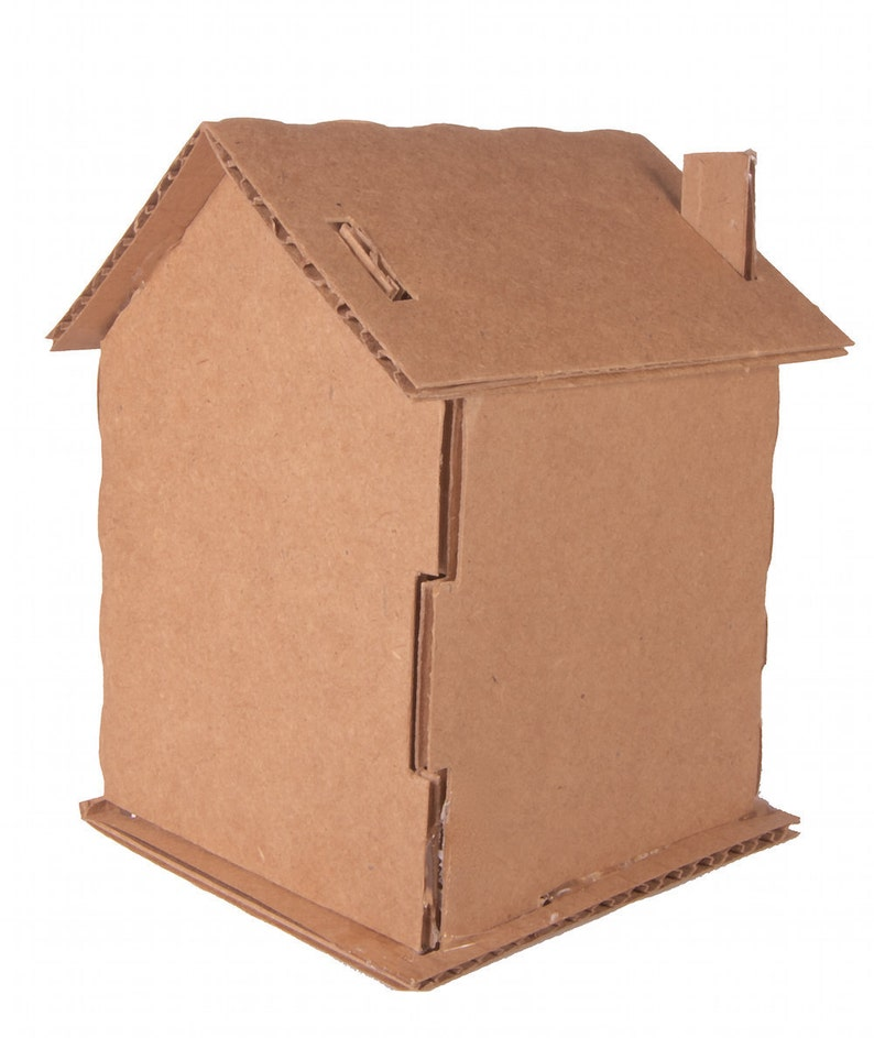 Cardboard House Pack Of 10 Etsy