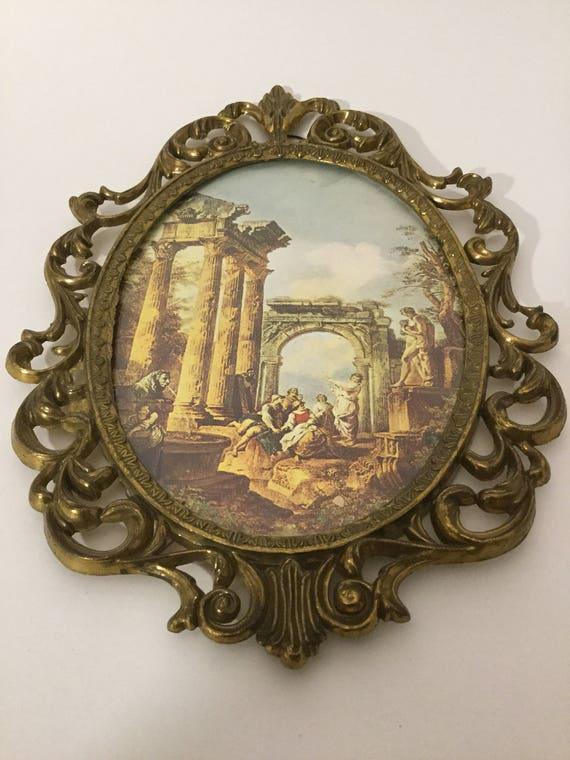 Oval Ornate Brass Wall Decor | Etsy