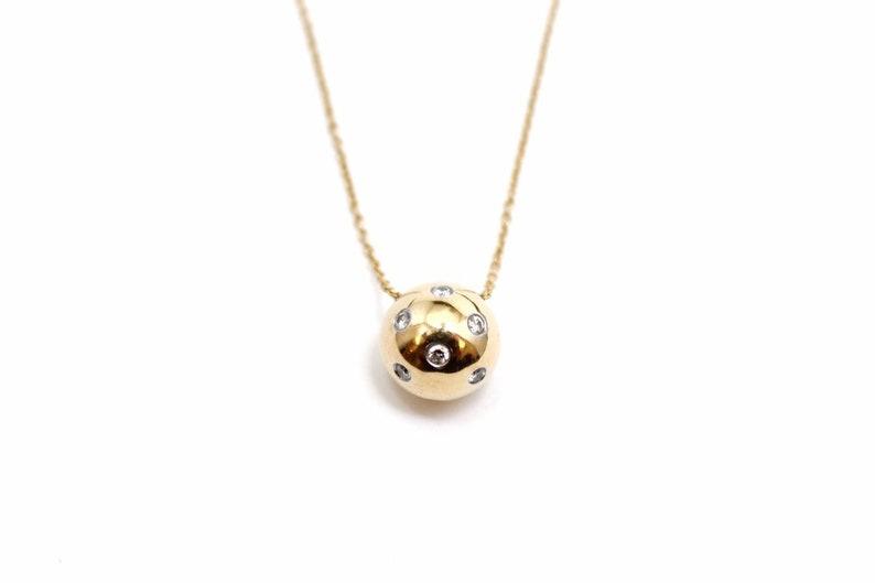 94e163494 Tiffany and Company 18K Yellow Gold Etoile Ball Diamond | Etsy