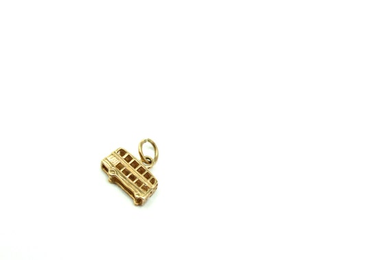 9k Yellow Gold Double Necklace Bus British 3D Charm