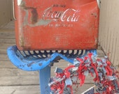 Super Rare Size Vintage Acton Manufacturing Coke Cooler Ice Chest Coke the Real Thing 40s 50s era slogan.