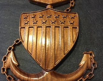 Coast Guard Chief carving