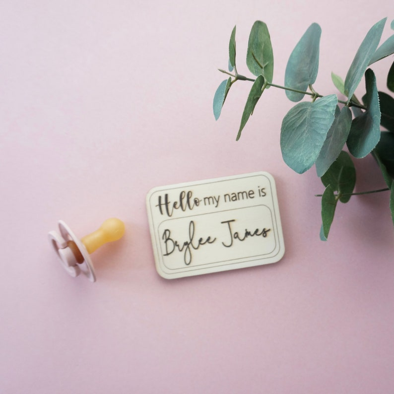 my name is HELLO personalized wooden plaque