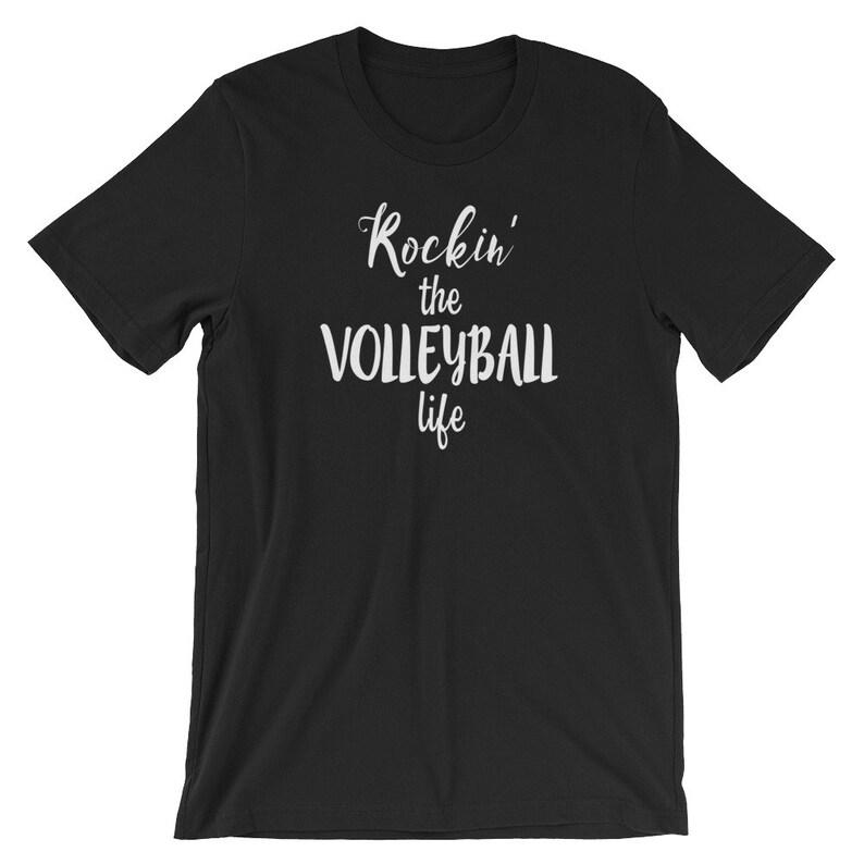 5e4e66768 Funny Volleyball Tee Rockin' The Volleyball Life | Etsy