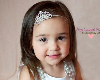 Baby Headbands - Baby Headband -  Crown Headband - Baby Hairbow - Infant Headband - Toddler Headband - headband baby - Baby bows