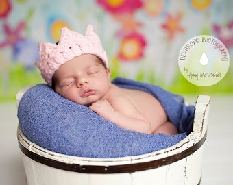 Baby Girl Crochet Crown,  Baby Girl Princess Crown, Newborn Infant adjustable Baby girl knitted Crown Photo Prop, Baby Shower Gift