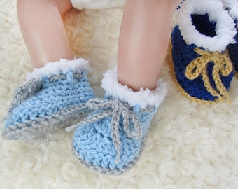 Baby Boy Booties, Crochet baby shoes, Coming Home Outfit Baby Boy Clothes Newborn Baby Boy Shoes Outfit Baby Boy Take Home Outfit Baby Gift