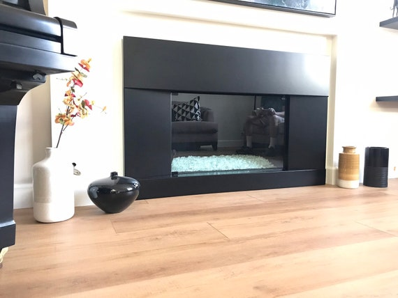 Metal Fireplace Surround, Black Steel Fireplace Surround