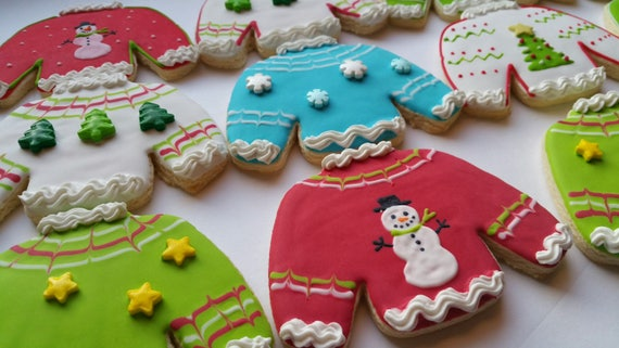 6 Ugly Christmas Sweater Cookies