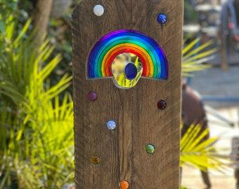 Rainbow garden sculptures