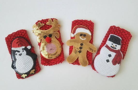 Christmas Baby Headbands Red Crochet Headband-pick one  6c0a11c0138
