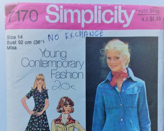 vintage Simplicity sewing pattern 7170 - misses' dress