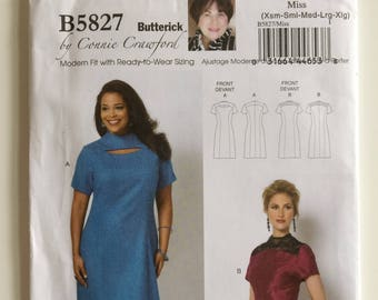 d49a660204e Butterick 5827 sewing pattern Misses  dress Size XS to XL designed by Connie  Crawford