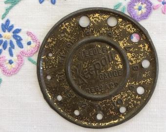 Vintage 1940's Keepair knitting needle gauge