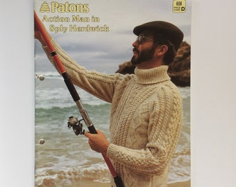 6a1693ef3aab7 Patons knitting pattern book 658 - Action Man in 8 ply Herdwick