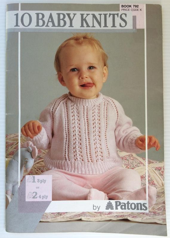 3ed1c73a3 Patons knitting pattern book 792 10 Baby knits