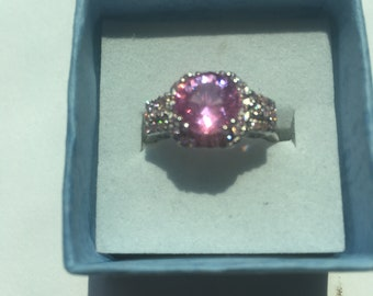 2.75ct Pink Sapphire Ring Size 7