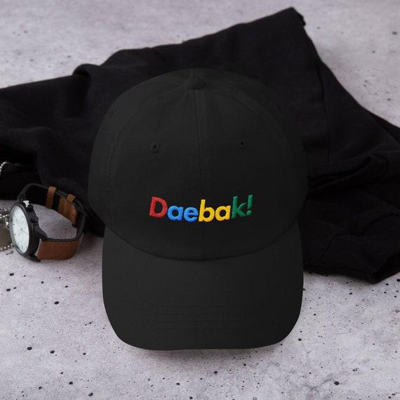 44bad4b5b9f5cc Items similar to K-Pop Daebak Baseball Dad Cap Hat Black or White Rainbow -  Tumblr Aesthetic Clothing Retro Korean BTS EXO NCT 127 Stray Kids GOT7  Seventeen ...