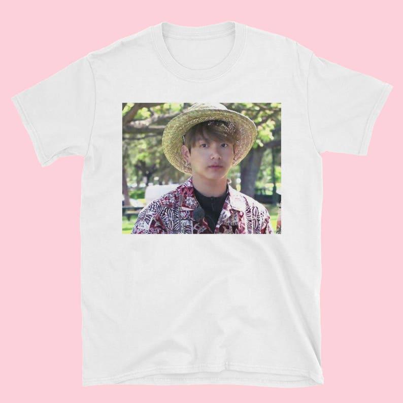 BTS Jeon Jungkook Hawaii Grubby Boy Meme Tee Bangtan Bon  7b4b2bce9